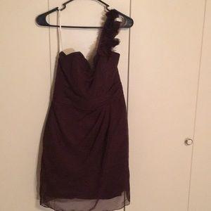DaVinci one shoulder bridesmaid dress